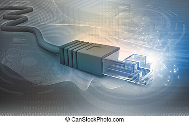Network cable tech  background