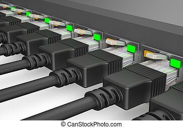 network cables, internet concept 2