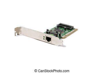 network card for computer on a white background