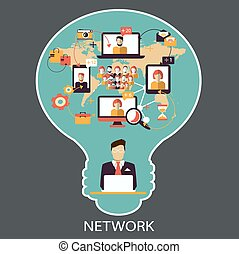 network., communication., social