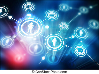 Network Community - Illustration with connected people.