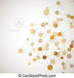 Network, connect or molecule set. Vector illustration for you idea