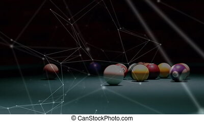 Network connected points with view on pool table