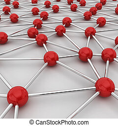 Network connection concept. 3d illustration on white...