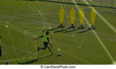 Network connection with soccer team training