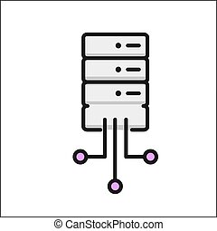 network database icon color