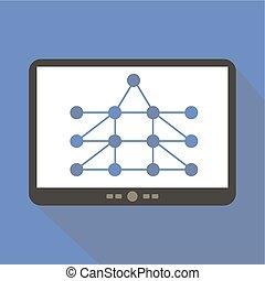 Network Diagram Tablet Icon