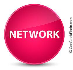 Network elegant pink round button