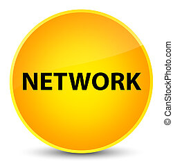Network elegant yellow round button