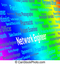 Network Engineer Shows Global Communications And Career
