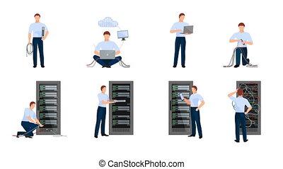 Network engineer video animation footage - Network engineer...