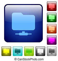 Network folder color square buttons