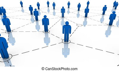 Global communications, teamwork, business organization and organized group concepts. HD Seamless loop. Part of a series.