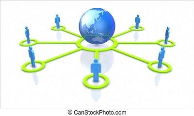 network., global, social