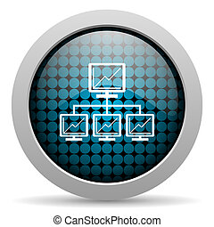 network glossy icon