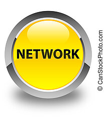 Network glossy yellow round button