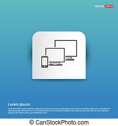 Network Icon - Blue Sticker button