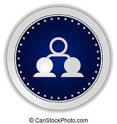 network icon button