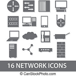 network icon collection eps10