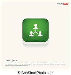 Network icon Green Web Button