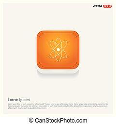 Network icon Orange Abstract Web Button