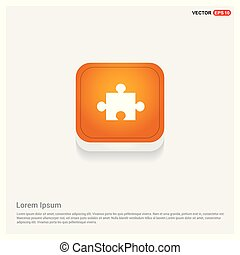 Network icon Orange Abstract Web Button