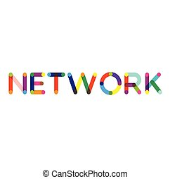 Network label on white background Sign, label, sticker