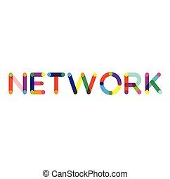 Network label on white background Sign, label, sticker