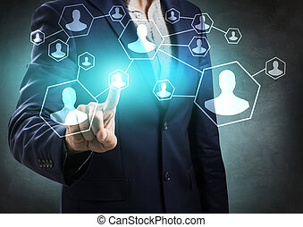 network., main, social, business, point