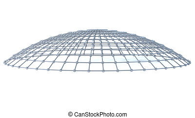 Network - Metallic network concept in a dome shape.