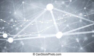 Network nodes greyscale plexus Loop background. Net grid of ...