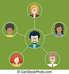 Network of businessminded people