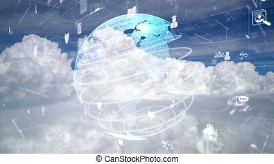 Network of connection modernization over clouds in the sky