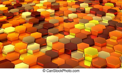 network of hexagons - A network of hexagons yellow hue,...