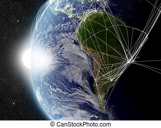 Network over South America