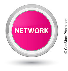 Network prime pink round button
