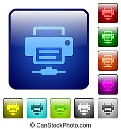 Network printer color square buttons