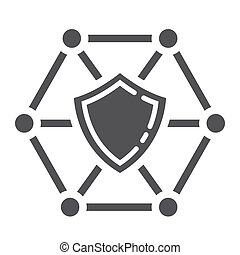 Vector web development shield sign - js framework dart  isolated