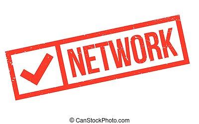 Network rubber stamp - Network stamp. Grunge design with...