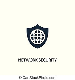 network security icon. Simple element illustration. network security concept symbol design. Can be used for web