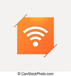 network., segno., wifi, simbolo., fili, wi-fi