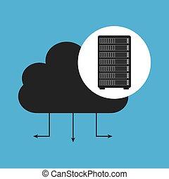 network server concept cloud connection