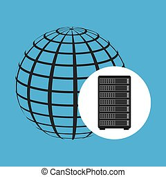 network server concept globe world