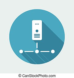 Network server - Flat minimal icon