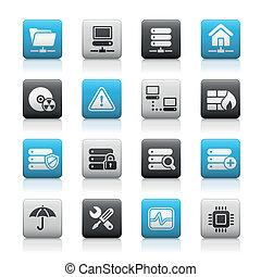 Network, Server & Hosting / Matte - Matte buttons set for...