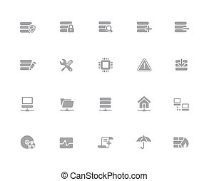 Network & Server Icons // 32px White Series