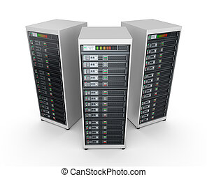 Network servers in data center