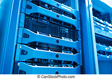 Network servers in data room