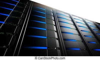 Network Servers in Line (Loop) - Network servers with...
