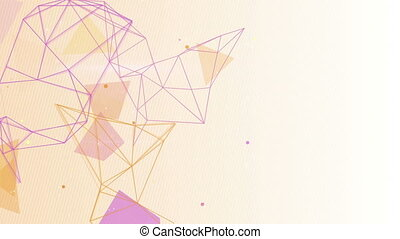 network shapes seamless loop background